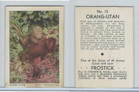 F55 Frostick, Animal Cards, 1933, #12 Orang-Utan