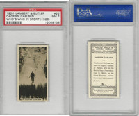 L8-98 Lambert, Who's Who In Sports, 1926, #22 D. Carlsen, Skiing, PSA 7 NM