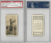 B116-0 BAT, Who's Who In Sports, 1927, #40 Cecil Leitch, Golf, PSA 6 EXMT