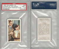 G12-96 Gallaher, Shots From Famous Films, 1935, #46 Woman Of World, PSA 7.5 NM+