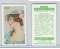 G12-100 Gallaher, Stars Of Screen & Stage, 1935, #19 Edith Evans
