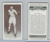 C82-34 Churchman, Boxing Personalities, 1938, #38 Billy Wells
