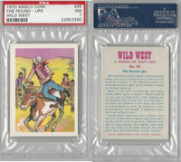 A0-0 Anglo Confectionery, Wild West, 1970, #65 The Round Ups, PSA 7 NM