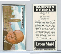 L0-0 Lyons Maid, Famous People, 1966, #1 Winston Churchill