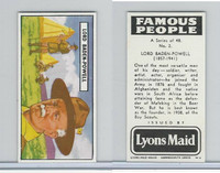 L0-0 Lyons Maid, Famous People, 1966, #2 Lord Baden-Powell