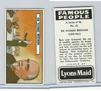 L0-0 Lyons Maid, Famous People, 1966, #10 Sir Thomas Beecham
