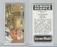 L0-0 Lyons Maid, Famous People, 1966, #15 Sir Alexander Fleming