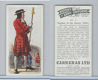 C18-55 Carreras, History Army Uniforms, 1937, #2 Yeoman of the Guard (1685)