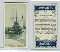 A72-14 Ardath Tobacco, Britain's Defenders, 1936, #16 Cruisers