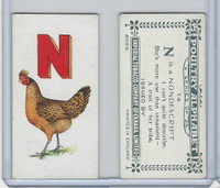 C28 Imperial Tobacco, Poultry Alphabet, 1924, #14 N For Nondescript Chicken