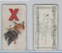 C28 Imperial Tobacco, Poultry Alphabet, 1924, #24 X For Fox & Chicken