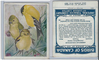 C2 Imperial Tobacco, Birds Of Canada, 1920's, #58 American Goldfinch
