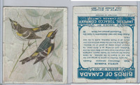 C2 Imperial Tobacco, Birds Of Canada, 1920's, #80 Myrtle Warbler