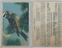 D39-2a, Gordon Bread, Recipe - California Birds, 1940's, Nuttalls Sparrow