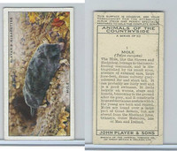P72-153 Player, Animals of Countryside, 1939, #1 Mole