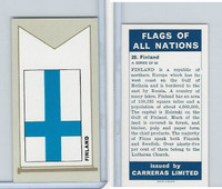 C18-0 Carreras, Flags All Nations, 1960, #20 Finland