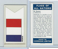 C18-0 Carreras, Flags All Nations, 1960, #21 France