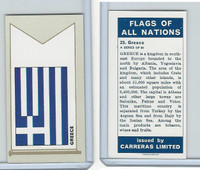 C18-0 Carreras, Flags All Nations, 1960, #23 Greece