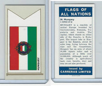 C18-0 Carreras, Flags All Nations, 1960, #24 Hungary