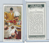 C82-60 Churchman, Kings Coronation, 1937, #21 The City's Submission