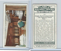 C82-48 Churchman, Famous Railway Trains, 1929, #16 Imperial Indian Mail