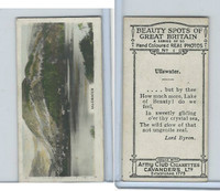 C48-22 Cavanders, Beauty Great Britain, 1927, #1 Ullswater