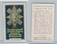 G12-72 Gallaher, Army Badges, 1939, #16 Black Watch