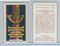 G12-72 Gallaher, Army Badges, 1939, #18 Oxfordshire and Buckinghamshire