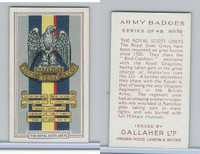 G12-72 Gallaher, Army Badges, 1939, #19 Royal Scots Greys
