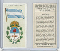 P72-171 Player, National Flags & Arms, 1936, #2 Argentina