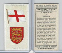 P72-171 Player, National Flags & Arms, 1936, #15 England
