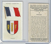 P72-171 Player, National Flags & Arms, 1936, #18 France
