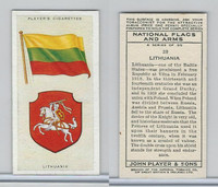 P72-171 Player, National Flags & Arms, 1936, #28 Lithuania