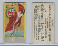 H628 Dr. McLane's Liver Pills, National Flags, 1890's, Peru