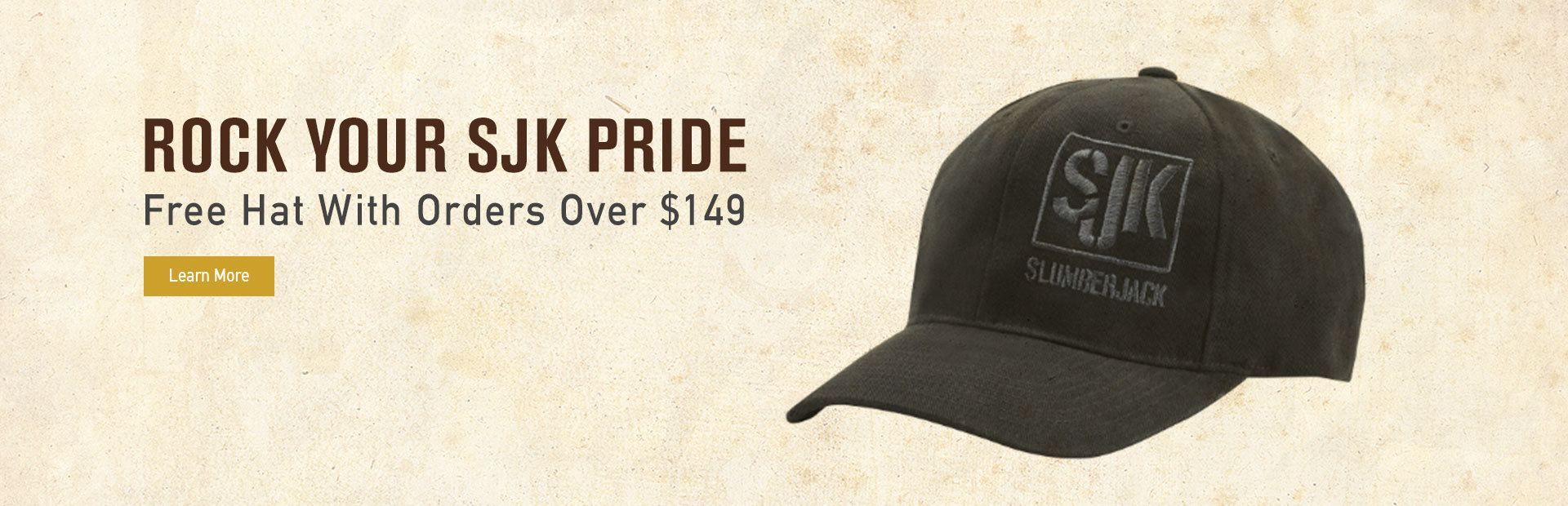Free SJK Hat With Orders Over $149
