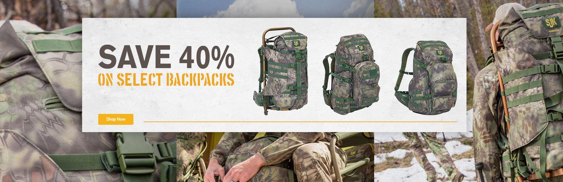 Save 40% on Select Backpacks!