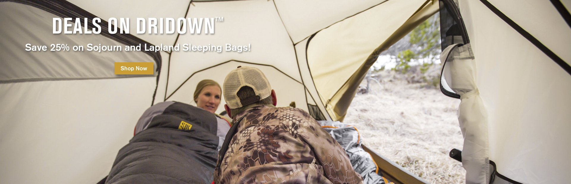 Save 25% on Sojourn and Lapland Sleeping Bags!