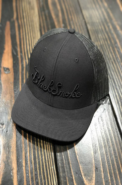 Burnt Out Black Smoke Snap Back