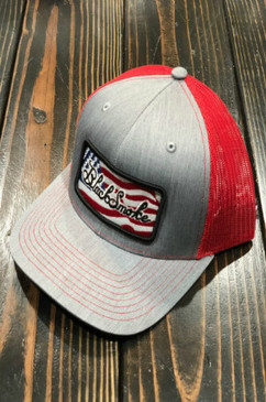 Black Smoke Flag Panel Snapback