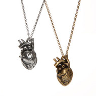 Pewter Anatomical Heart Pendant