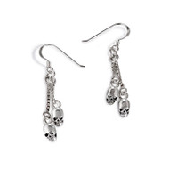 Double Hanging Skull Earrings