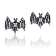Vampire Bat Stud Earrings