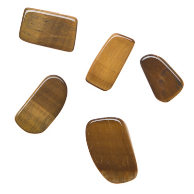 Various Tumbled Tiger's Eye Example