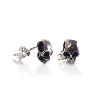 Small Skull Post Earrings - Thumbnail