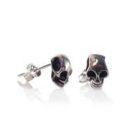Small Skull Post Earrings - Thumbnail