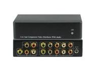 1x2 1:2 Component Video Ana. Audio Splitter Distribution Amplifier ANI-1X2COMPAA