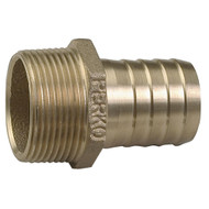 """Perko 1"""" Pipe To Hose Adapter Straight Bronze MADE IN THE USA"""