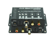 Composite BNC S-Video + Stereo Analog Audio Booster Extender Amplifier SB-2809