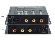 Composite RCA S-Video + Stereo Analog Audio Booster Extender Amplifier SB-2810