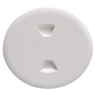 "Beckson 5"" Twist-Out Deck Plate - White"